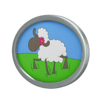Frolicking Sheeple Belt Buckle