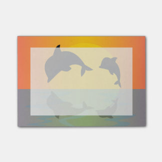 Frollocking Dolphins at Sunset Post-it Notes
