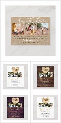 From $0.09 Budget Photo Overlay Wedding Invites