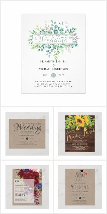 From $0.09 - Low Budget Wedding Stationery