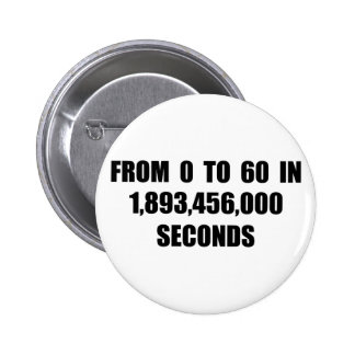 From  0 to 60 in seconds 2 inch round button
