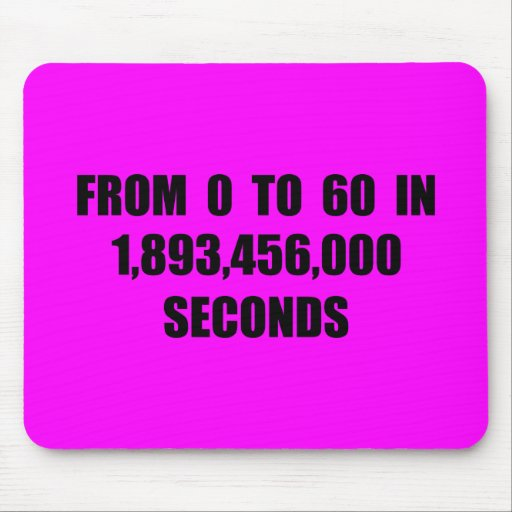 From  0 to 60 in seconds mouse pad