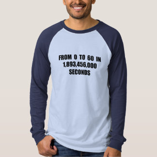 From  0 to 60 in seconds tee shirts