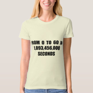 From  0 to 60 in seconds tees