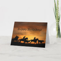 From A Group Cowboy Birthday Card