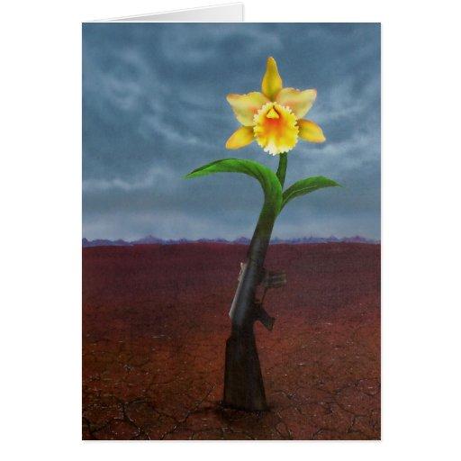 From a Gun to a Flower Card
