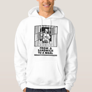 From a Sandwich to a Meal Vintage Illustration Ad Hoody