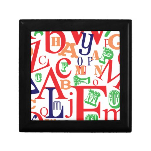 From A to Z Bold Keepsake Boxes
