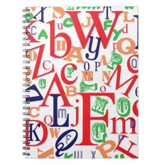 From A to Z Bold Spiral Notebook