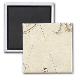 From Albany to Newborough 31 2 Inch Square Magnet