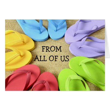friendshipandfun FROM ALL OF US - FLIP FLOPS BIRTHDAY CARD