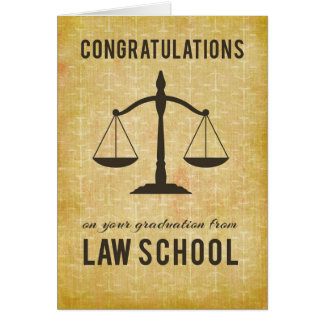 From All of Us, Group, Law School Graduation Congr Card