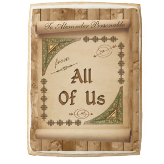 From All of Us Vintage Scroll Customized Name Jumbo Shortbread Cookie