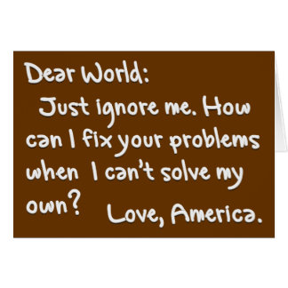 From America with Love (Light Text) Card