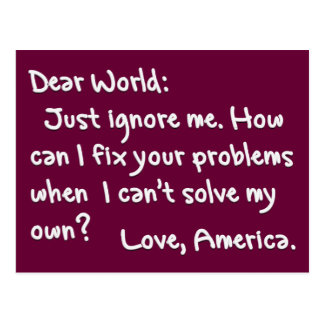 From America with Love (Light Text) Postcard