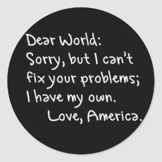 From America with Love Stickers