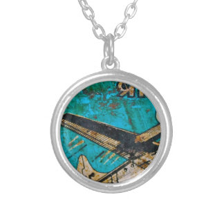 From an Indian Linseed Oil Can Silver Plated Necklace