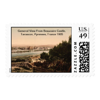 From Beaucaire Castle, Tarascon, Pyrenees, France Stamps