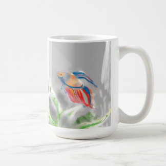 From Blue to Red Betta Fish Classic White Coffee Mug