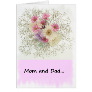 From Bride to Mom and Dad Greeting Card