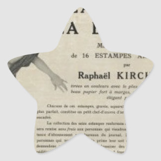 From Brown to Blonde by Raphael Kirchner Star Sticker