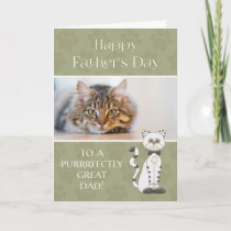 From Cat on Father's Day custom photo Card