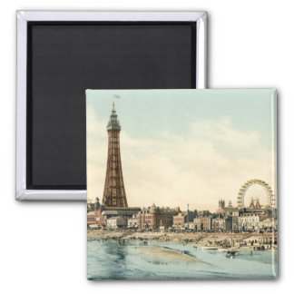From Central Pier, Blackpool, England 2 Inch Square Magnet