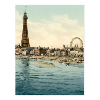 From Central Pier, Blackpool, England Postcard