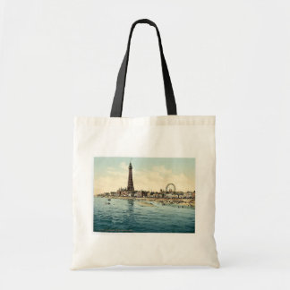 From Central Pier, Blackpool, England vintage Phot Budget Tote Bag