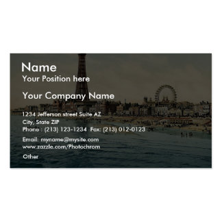 From Central Pier, Blackpool, England vintage Phot Double-Sided Standard Business Cards (Pack Of 100)