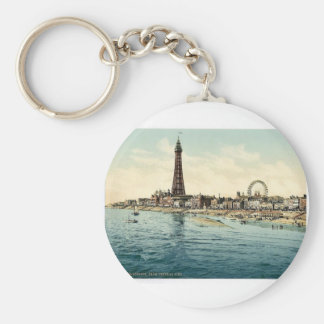 From Central Pier, Blackpool, England vintage Phot Key Chains