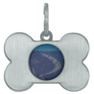From Chaos To Sea Dunes Pet Tag