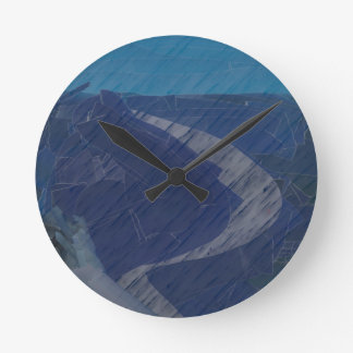 From Chaos To Sea Dunes Round Clock