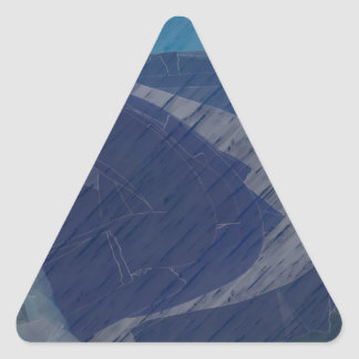 From Chaos To Sea Dunes Triangle Sticker