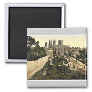 From city walls, York, England classic Photochrom Magnets