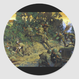 From Cornrow to Hedgerow by Keith Rocco Classic Round Sticker