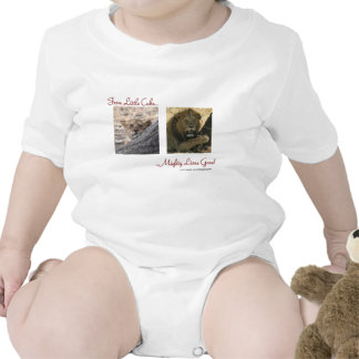 From cute cub to mighty lion on one shirt