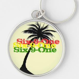 From da FSM Silver-Colored Round Keychain