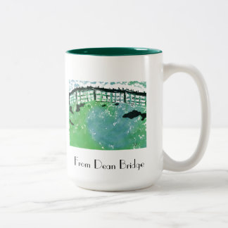"""From dean Bridge"" Two-Tone Mug"