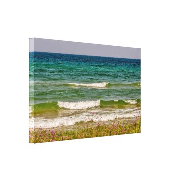 Art Themed From Deep Blue Water to Green Canvas Print