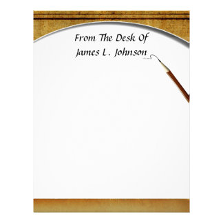 From Desk Of... Vintage Look Letterhead Stationery