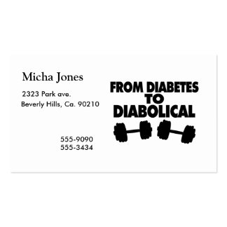 From Diabetes To Diabolical Business Card