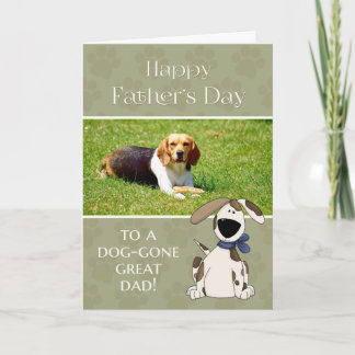 From Dog on Father's Day custom photo Card
