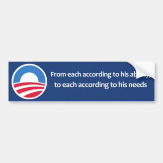 From each according to his ability bumper sticker