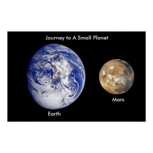 From Earth to Mars / Journey to A Small Planet Print