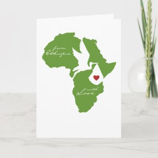 From Ethiopia w/ Love Adoption Shower Invites card