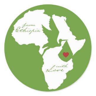 From Ethiopia w/ Love Adoption sticker