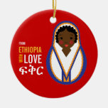 From Ethiopia With Love Adoption Keepsake Christmas Tree Ornaments