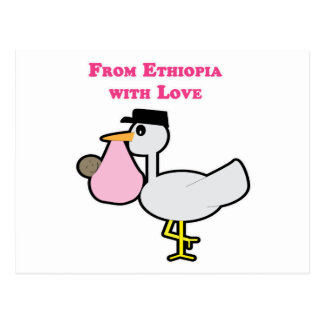 From Ethiopia with Love (girl) Postcard