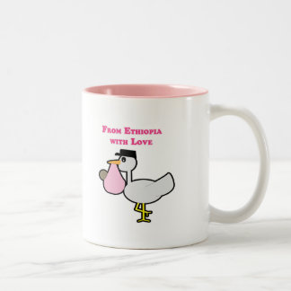 From Ethiopia with Love (girl) Two-Tone Coffee Mug